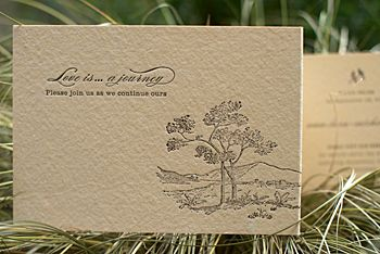 Enchanted Rock Letterpress Wedding Invitation Letterpresses and