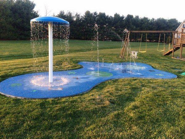 Patio Landscape Splash Pad Ideas Summer Activities For