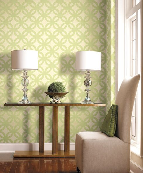 Yes to the wallpaper :)   Atomic Hacienda   Pinterest   Stenciling