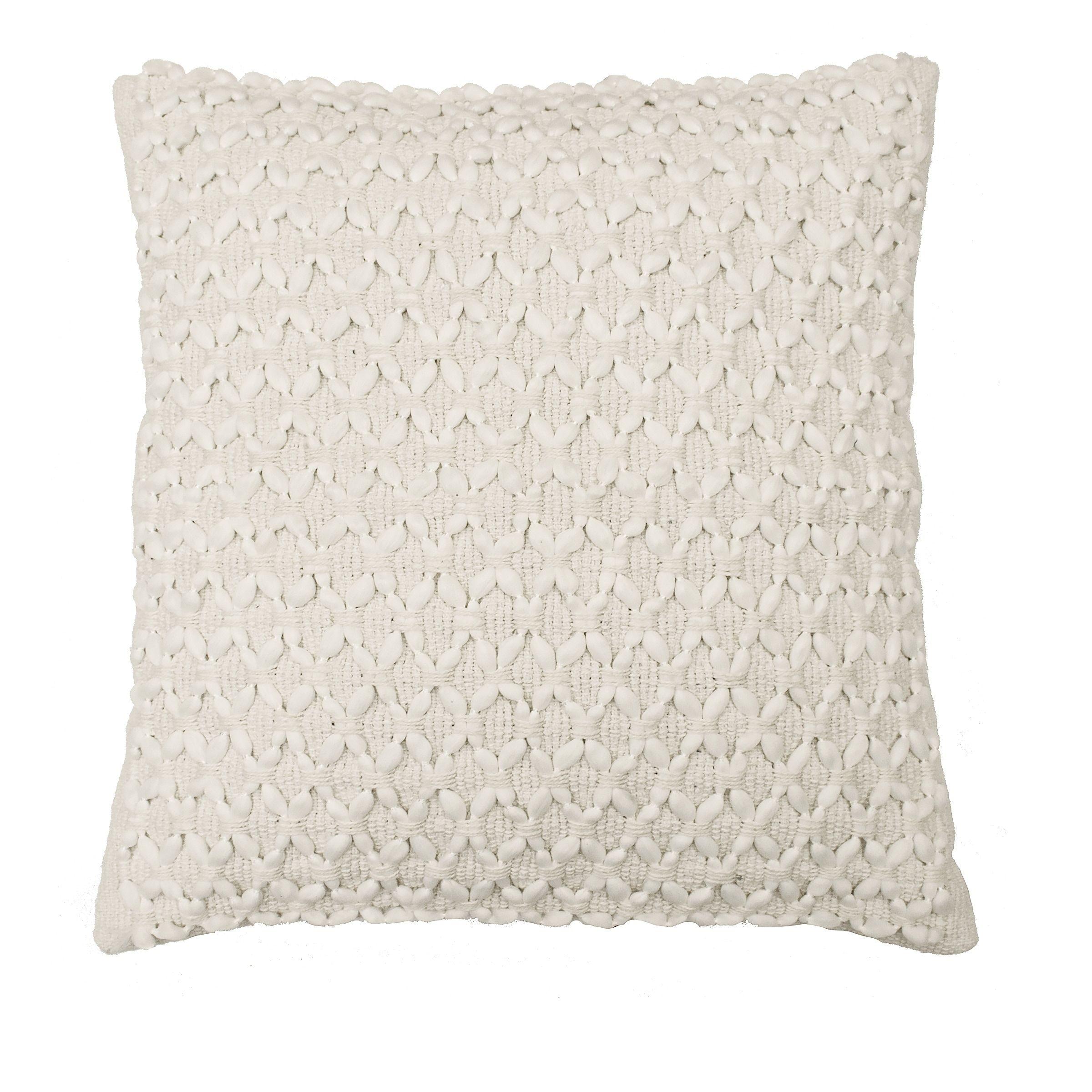 Beautyrest laurel woven embellishment decorative pillow ivory