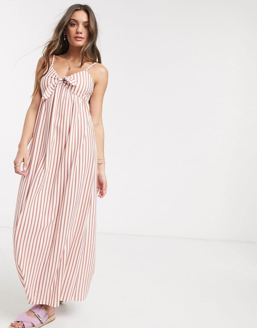 Asos Design Petite Cami Bow Front Maxi Sun Dress We Select Dresses Petite Summer Dresses Summer Day Dresses Select Dress [ 1110 x 871 Pixel ]