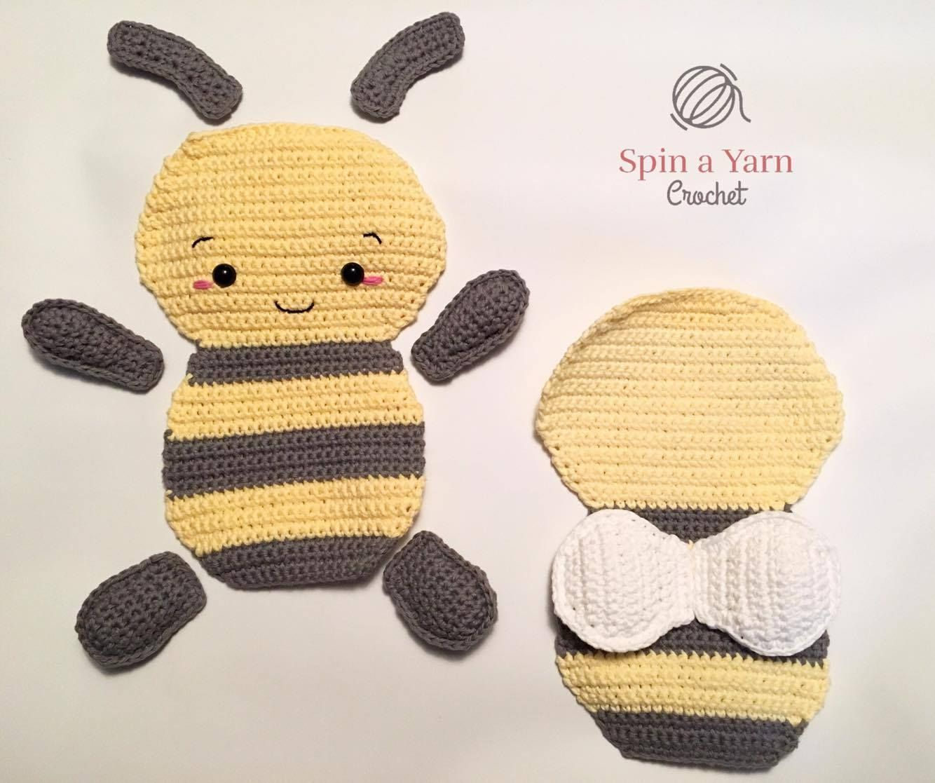 Dorable Patrón De Abejorros Crochet Imagen - Ideas de Patrones de ...