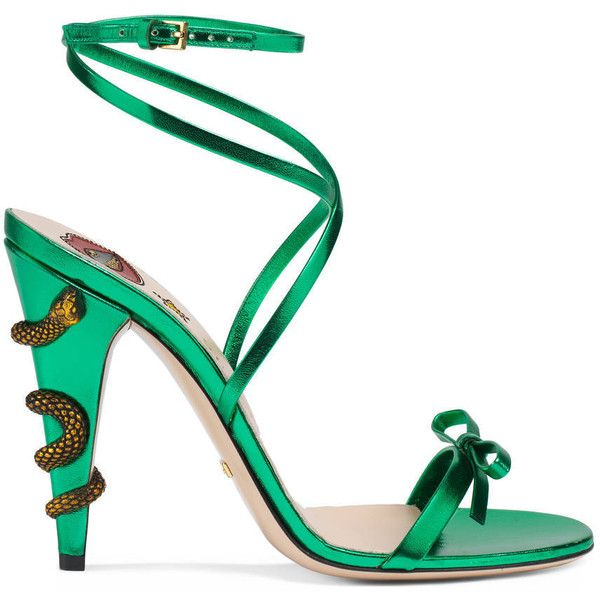 97ea3695b8cf Gucci Leather Crisscross Sandal ( 785) ❤ liked on Polyvore featuring shoes