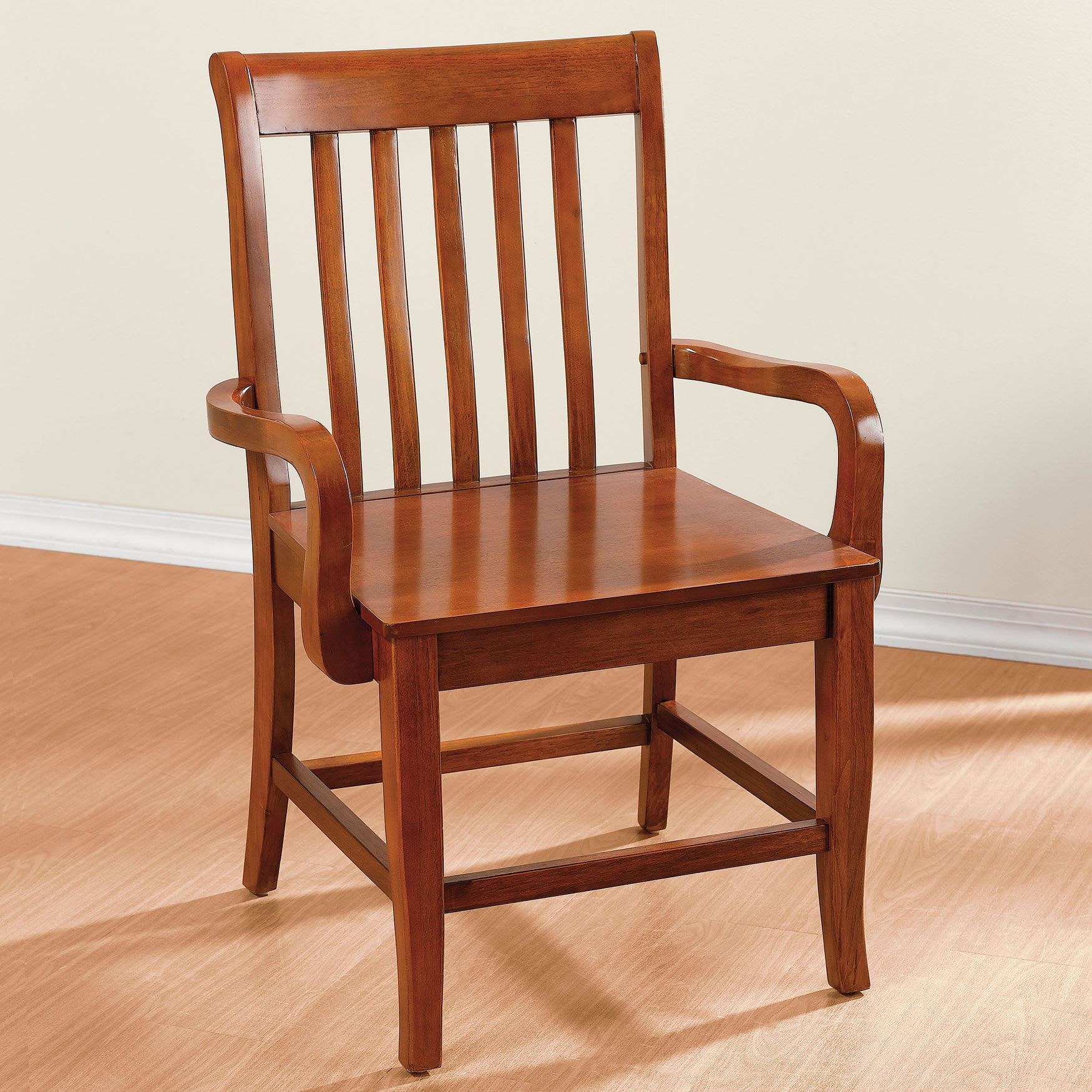 Extra Wide Slat Back Chair With Arms | Extra Large Chairs ...