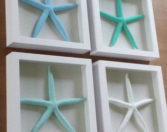 Starfish Decor Wall Decoration Wood Sign Art Wooden Beachy