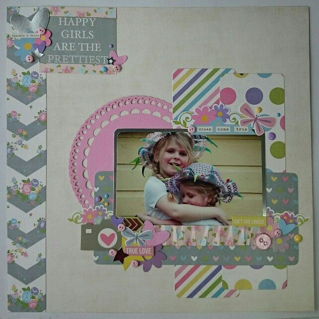 12x12 layout using Simple Stories Enchanted collection from www.craft-island.co.uk