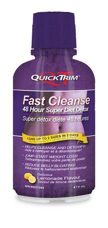 Quicktrim Fast Cleanse 48 Hour Super Detox Lemonade Flavour