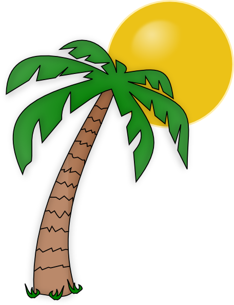 palm trees clip art palm tree clip art clip art vectors rh pinterest ca clip art palm trees on beach clipart palm trees beach