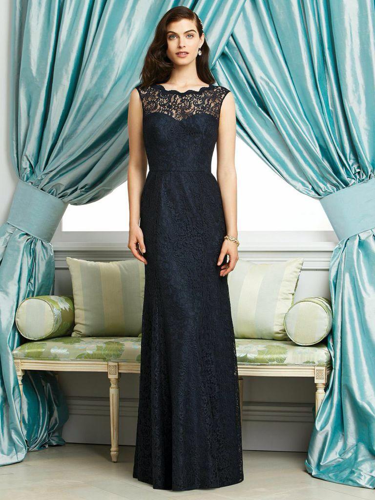 Elegantes Abendkleid mit schwarzer Spitze aus New York ...