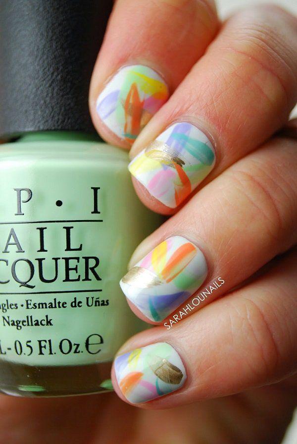 Diseños en acuarela de los que tus uñas se enamorarán | Nuevas ...