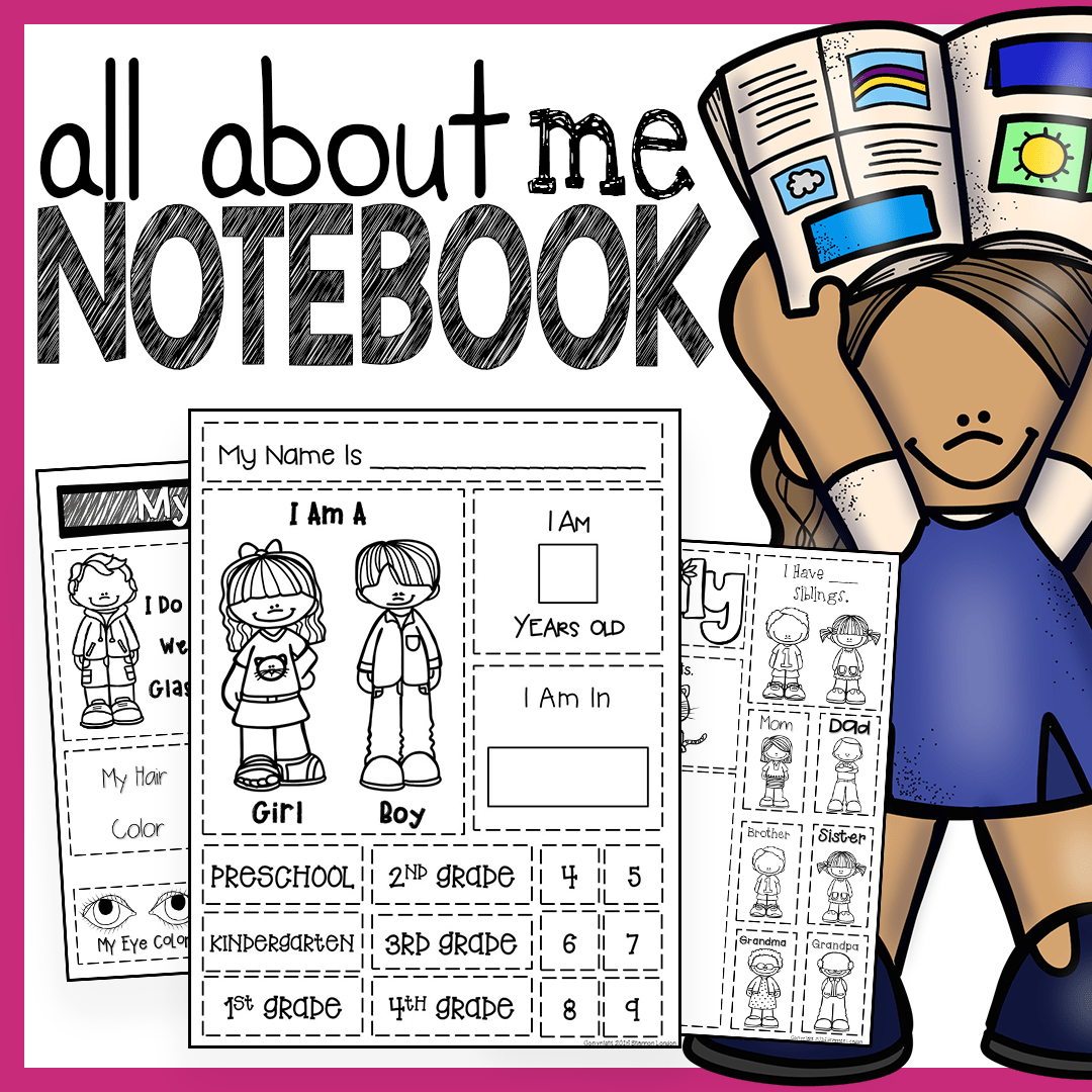 All About Me The Perfect Preschool Notebook To Introduce