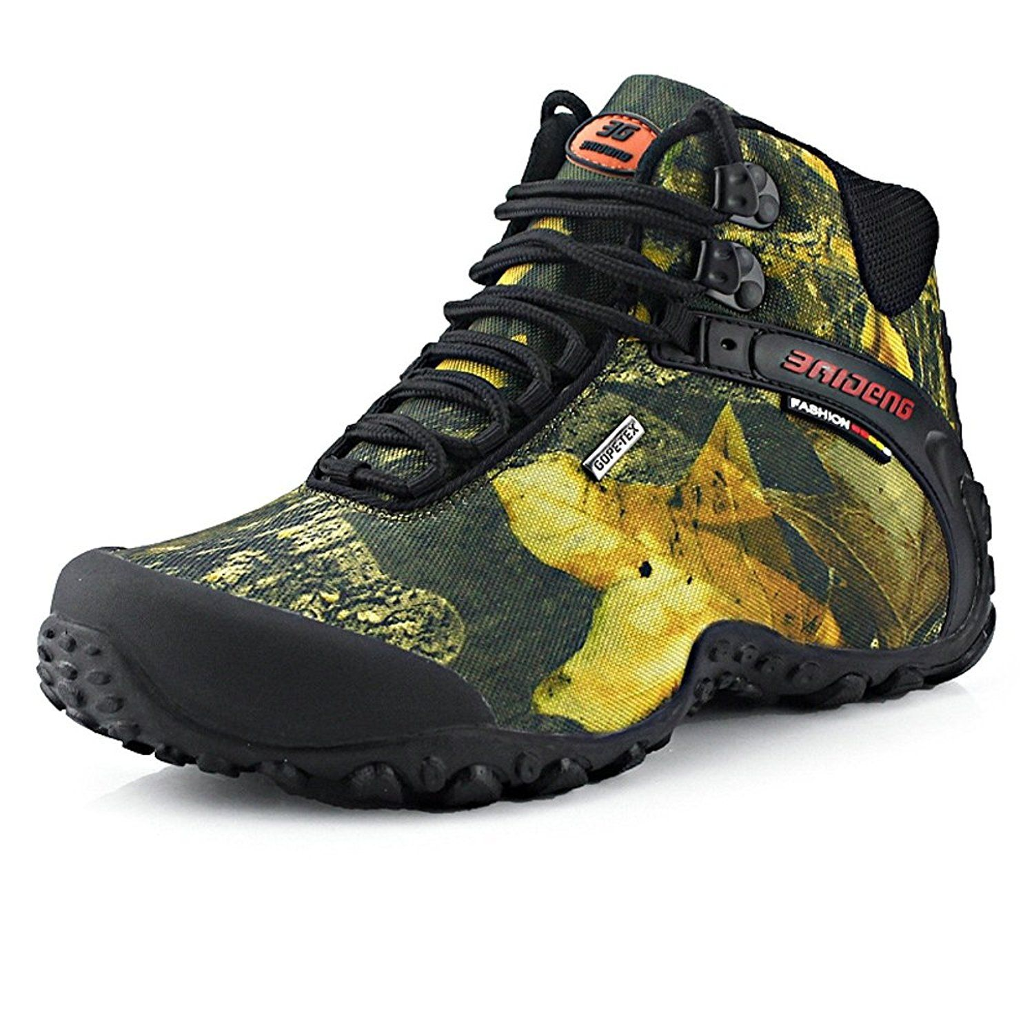 efb5003f688d1 waterproof canvas hiking boots Anti-skid thable fishing climbing ...