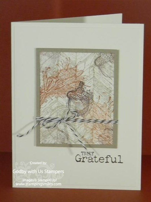 Clean And Simple Stampin Up Truly Grateful Collage Card Cards Stamped Cards Fall Cards