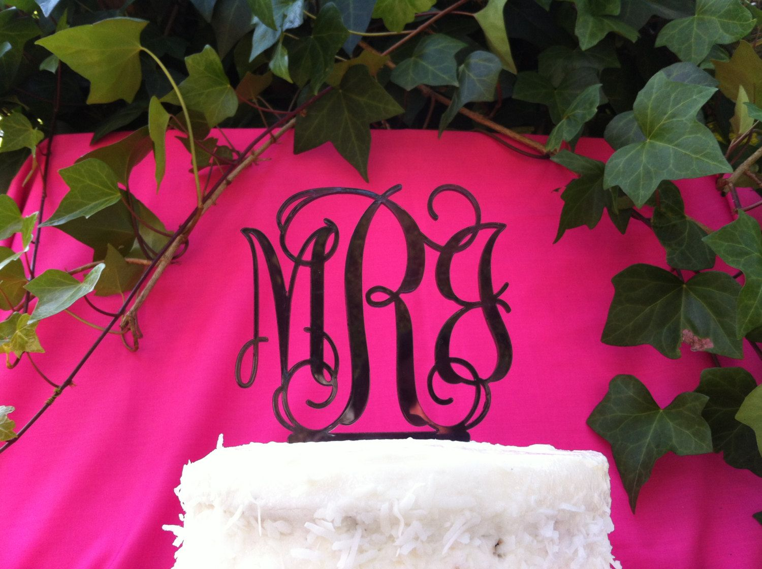 Custom 3 Letter Monogram Wedding Cake Topper | Wedding Ideas ...