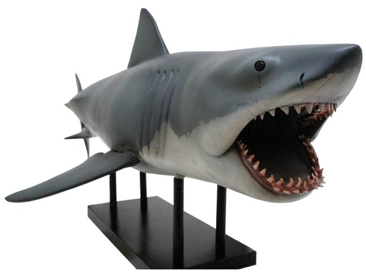 Great White Shark Jaws Toys : Quot ultimate bruce shark maquette city ozark