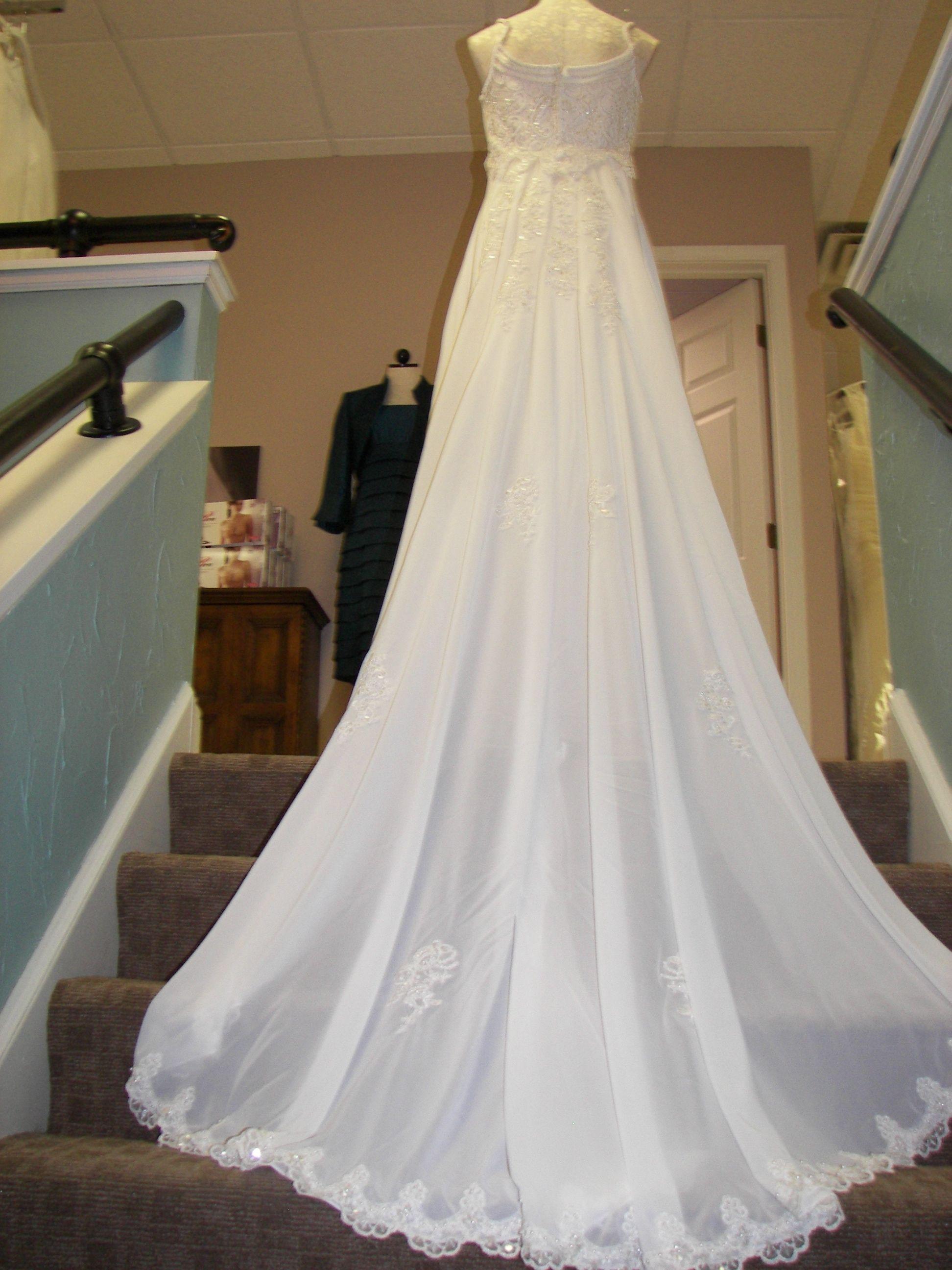 Detachable train Wedding dresses lace, Wedding gown