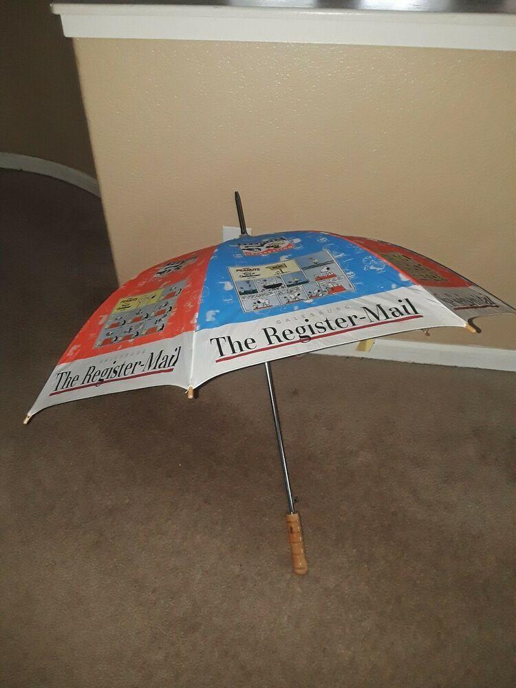 GALESBURG THE REGISTER-MAIL PEANUTS CELEBRATION Umbrella