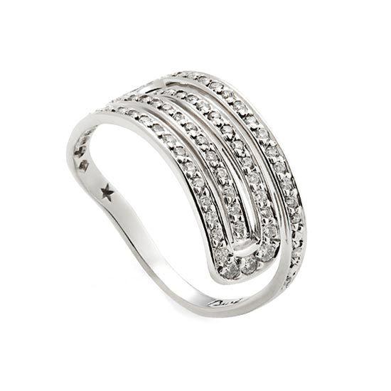 Anel de ouro branco 18K com diamantes http://m.hstern.com.br/joia/anel/roberto-burle-marx/A3B196312