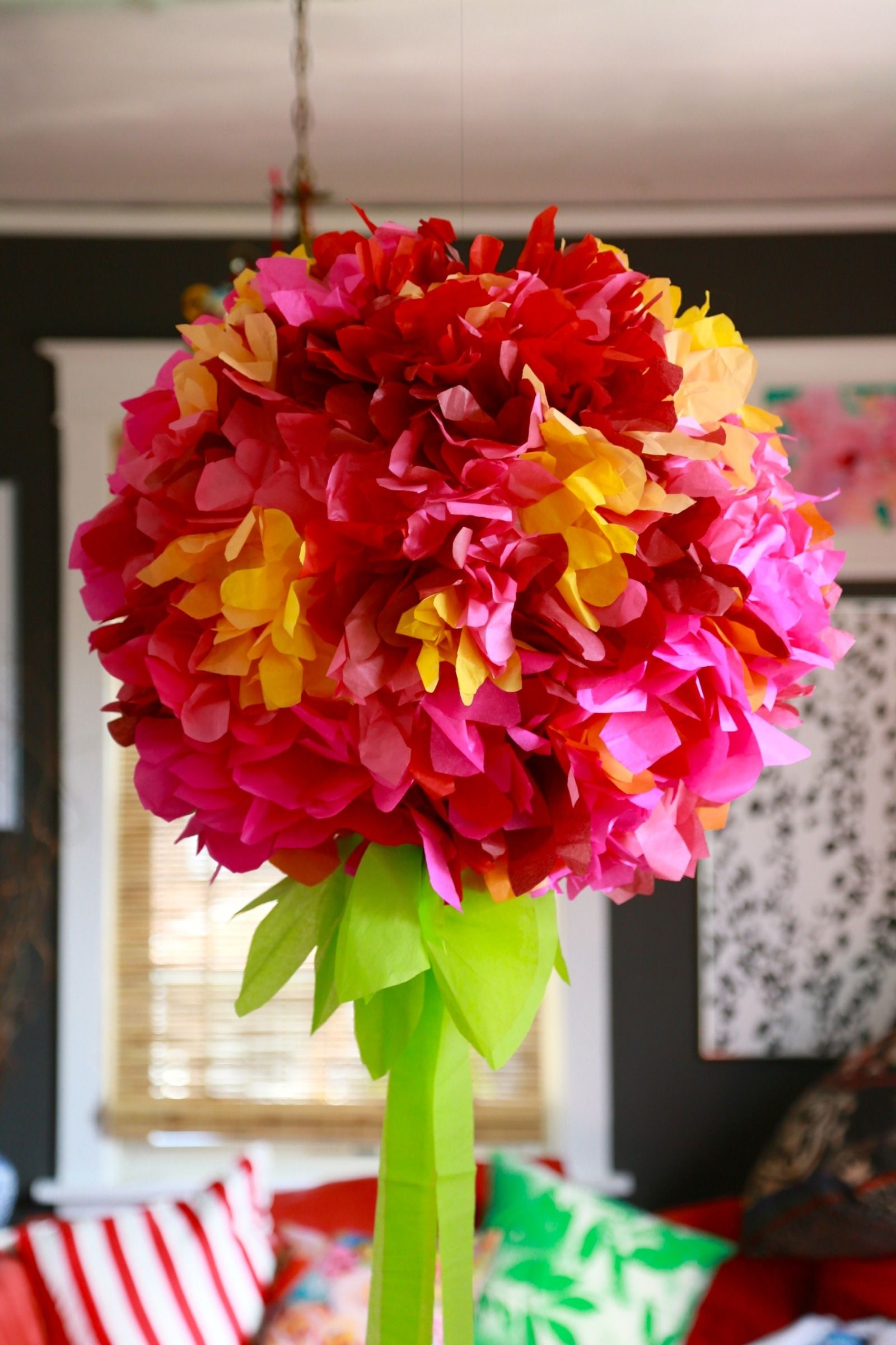 Awesome Easy & Simple Giant Tissue Paper Flower Chandelier