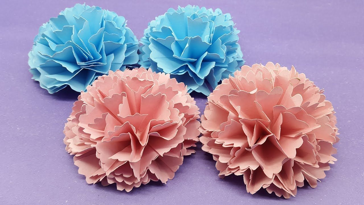 How To Make Carnation Flower Out Of Paper Making Paper Flower Step