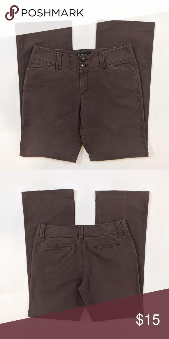 de8aa4734 Eddie Bauer Vashon Fit Size 8 Long Brown Pants Eddie Bauer Vashon Fit Womens  Size 8