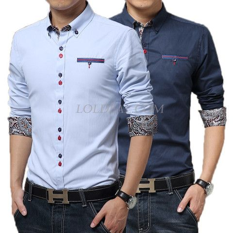 Men's Spell Color Dress Shirt