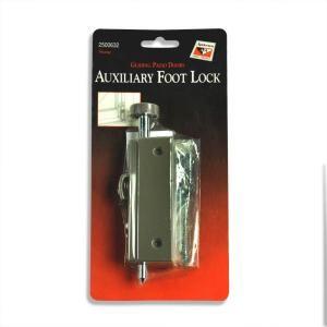 Andersen White Steel Sliding Patio Door Foot Lock Auxfoot