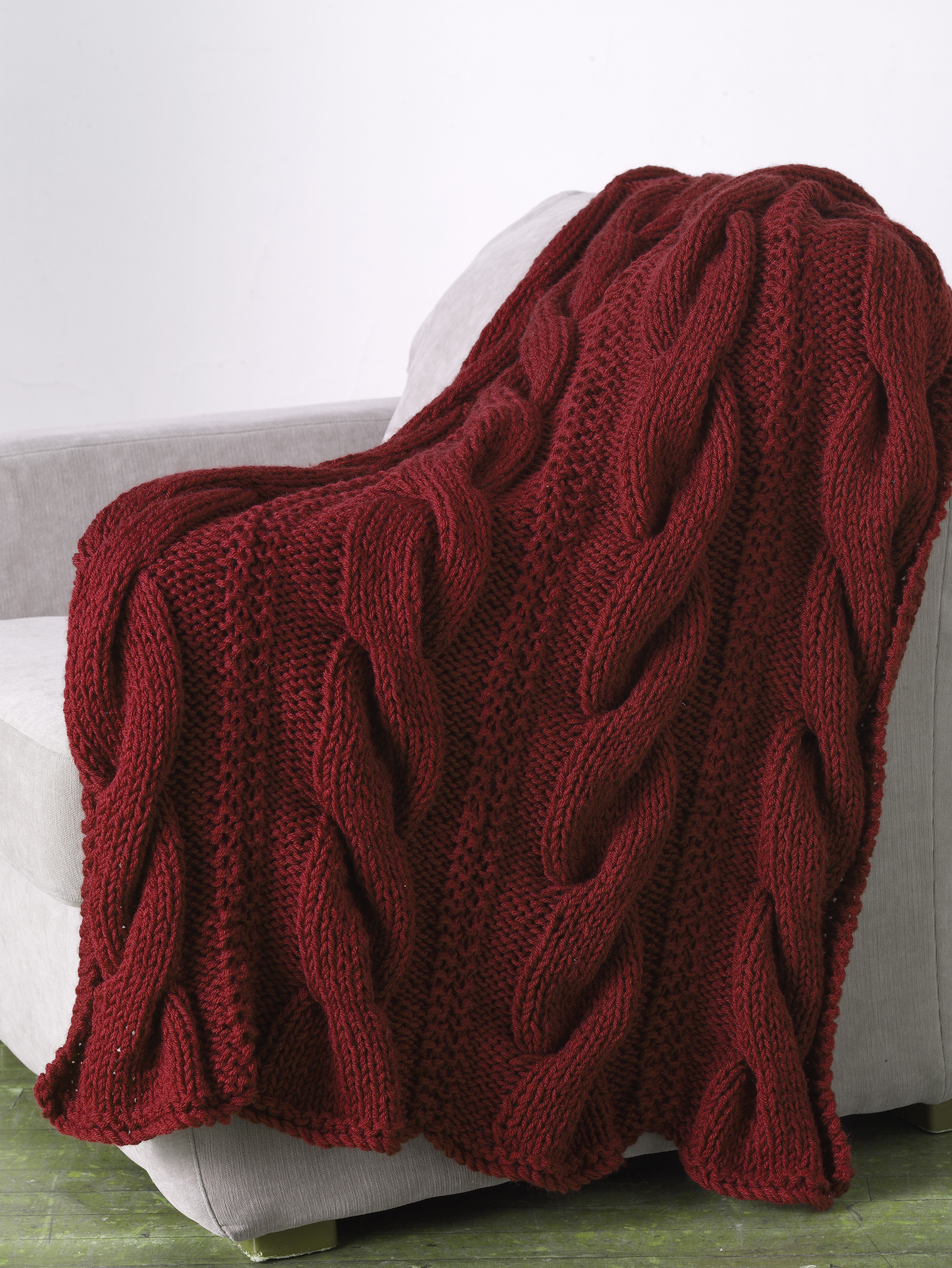 Lenox Square Throw (Knit) - Patterns - Lion Brand Yarn | needle time ...