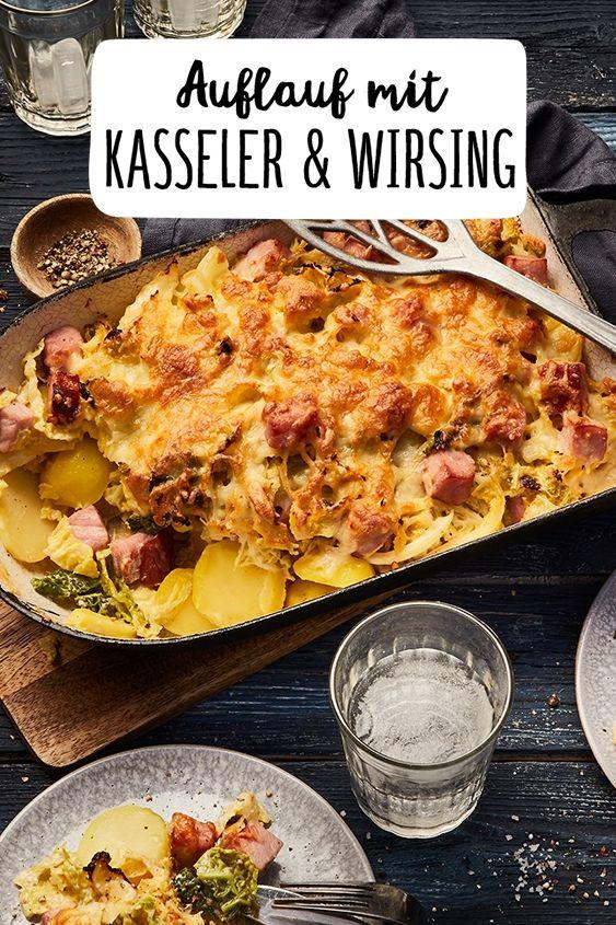 Würziger Auflauf mit Kasseler und Wirsing #hawaiianfoodrecipes