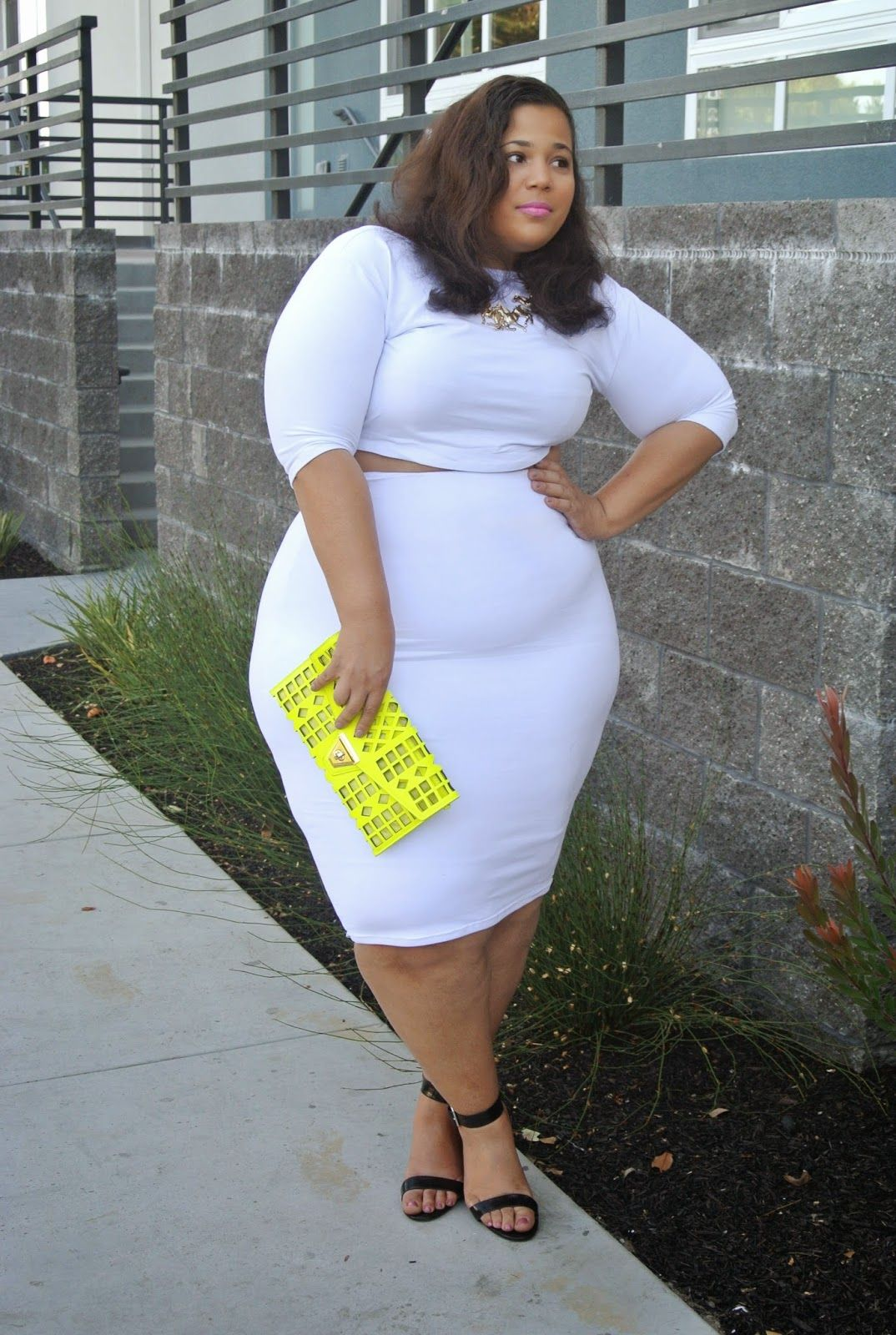Khloe Kardashian style, plus size crop top and skirt set | Get In My ...