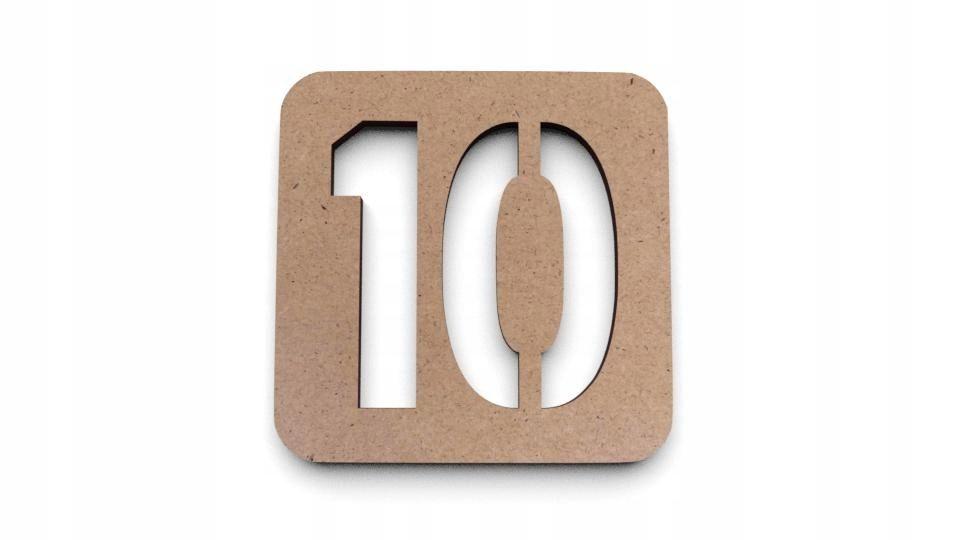 Tabliczka Znaczek Numerek Na Drzwi Eko Numer S0004 Letters 10 Things