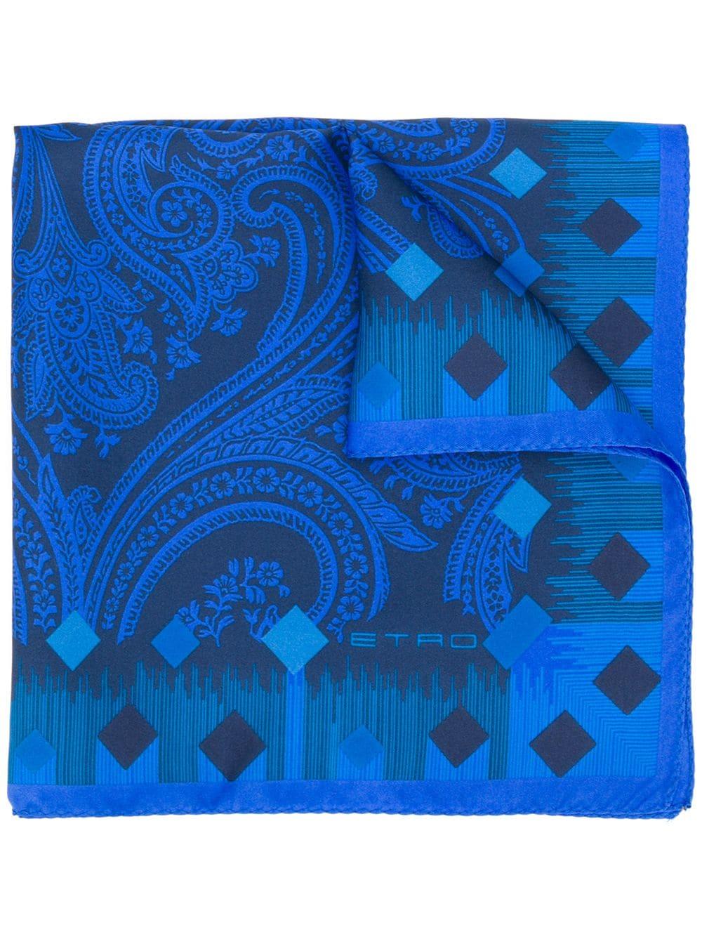 Shlax/&Wing Mens Pocket Square Azure Paisley Silk Hanky New Design Wedding