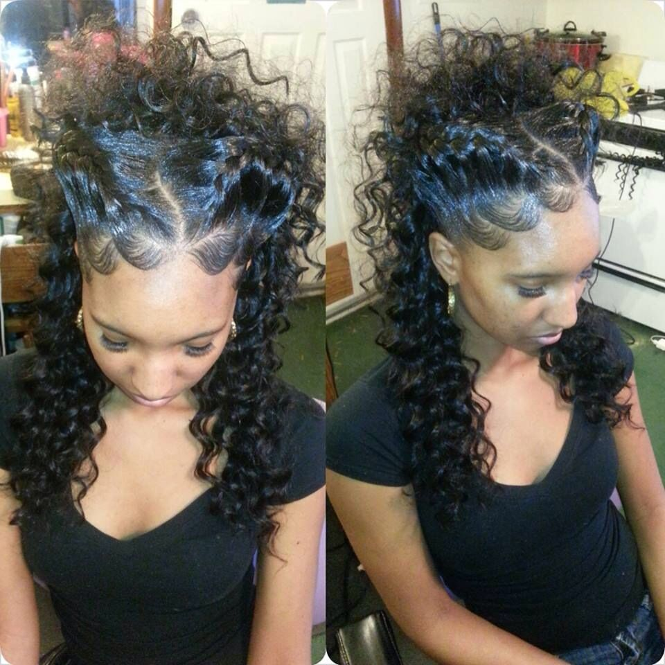 Goddess Braid Updo Nice Even If U Have A Weave With A Part In The