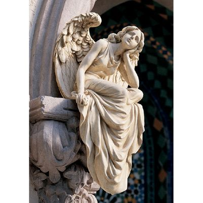 Peaceful Sitting Angel Sculpture Garden Statue Large Ebay Iam Going To This Description