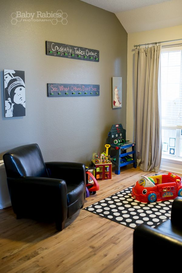 Dining Room Turned Playroom Love The Boards With Binder Clips For Hanging Up Kid Art Maybe Cabinet Between And Kitchen