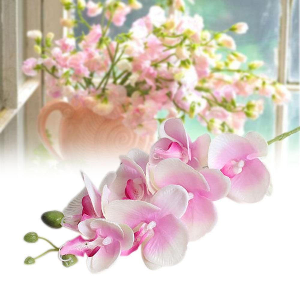 Artificial butterfly orchid flowers bouquet phalaenopsis wedding