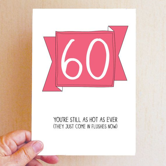 Happy 60th Birthday Card Funny 60