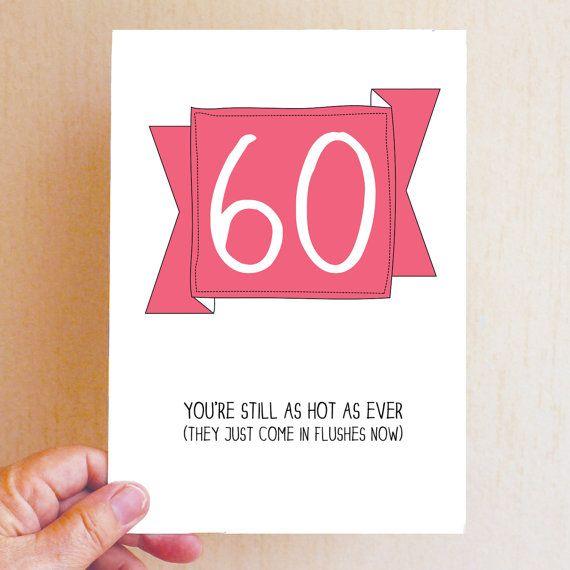 Happy 60th Birthday Card Funny Birthday Card Funny 60 Card – 60th Birthday Cards Funny