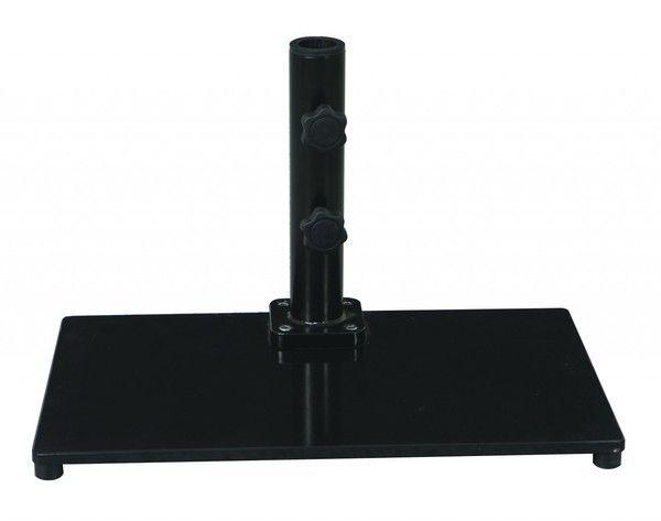 40 lb. Premium Cast Square Metal Stand For Half Wall Galtech Umbrellas