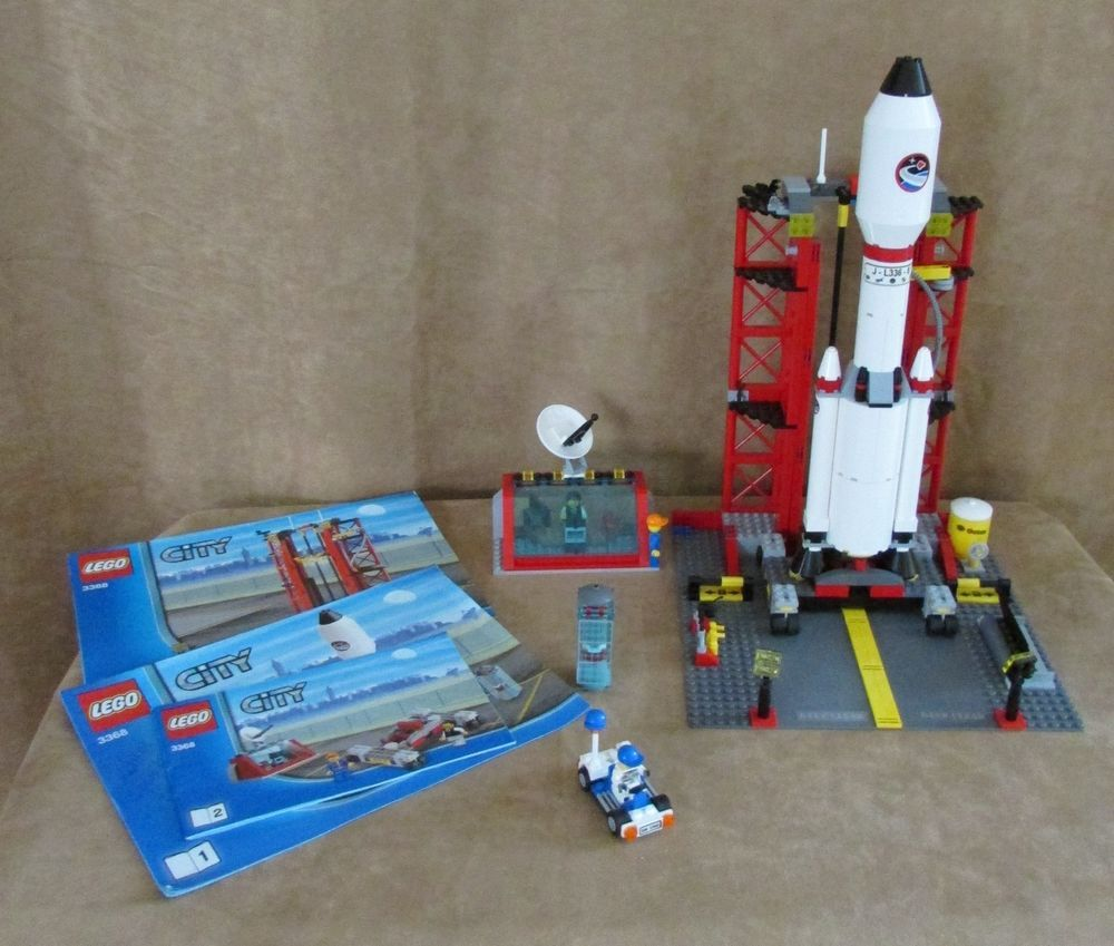 Pin lego 60032 city the lego summer wave in official images on - 3368 Lego Space Center Complete Instructions City Shuttle Ship Rocket Nasa Lego