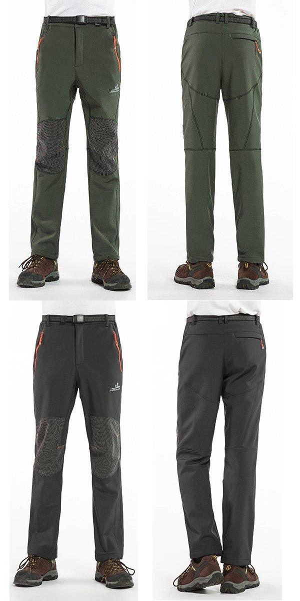 2a2485636 $33.32 Mens Outdoor Sport Pants Elastic Waist Soft Shell Warm Fleece ...