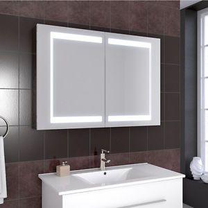 Salle-de-bains-armoire-a-glace-armoire-de-toilette-LED-miroir-100cm ...