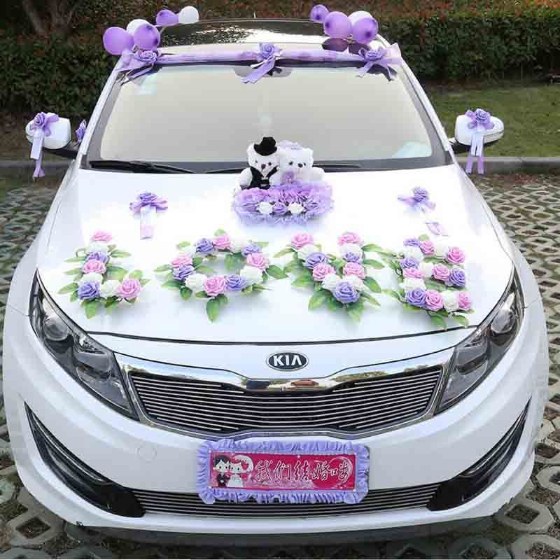 Artificial flowers for car creative korean diy wedding car decor artificial flowers for car creative korean diy wedding car decor love and bear set wedding car junglespirit Gallery