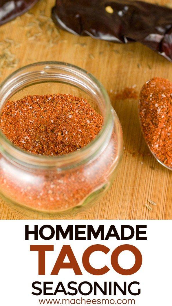 Homemade Taco Seasoning Recipe ~ Macheesmo #maketacoseasoning