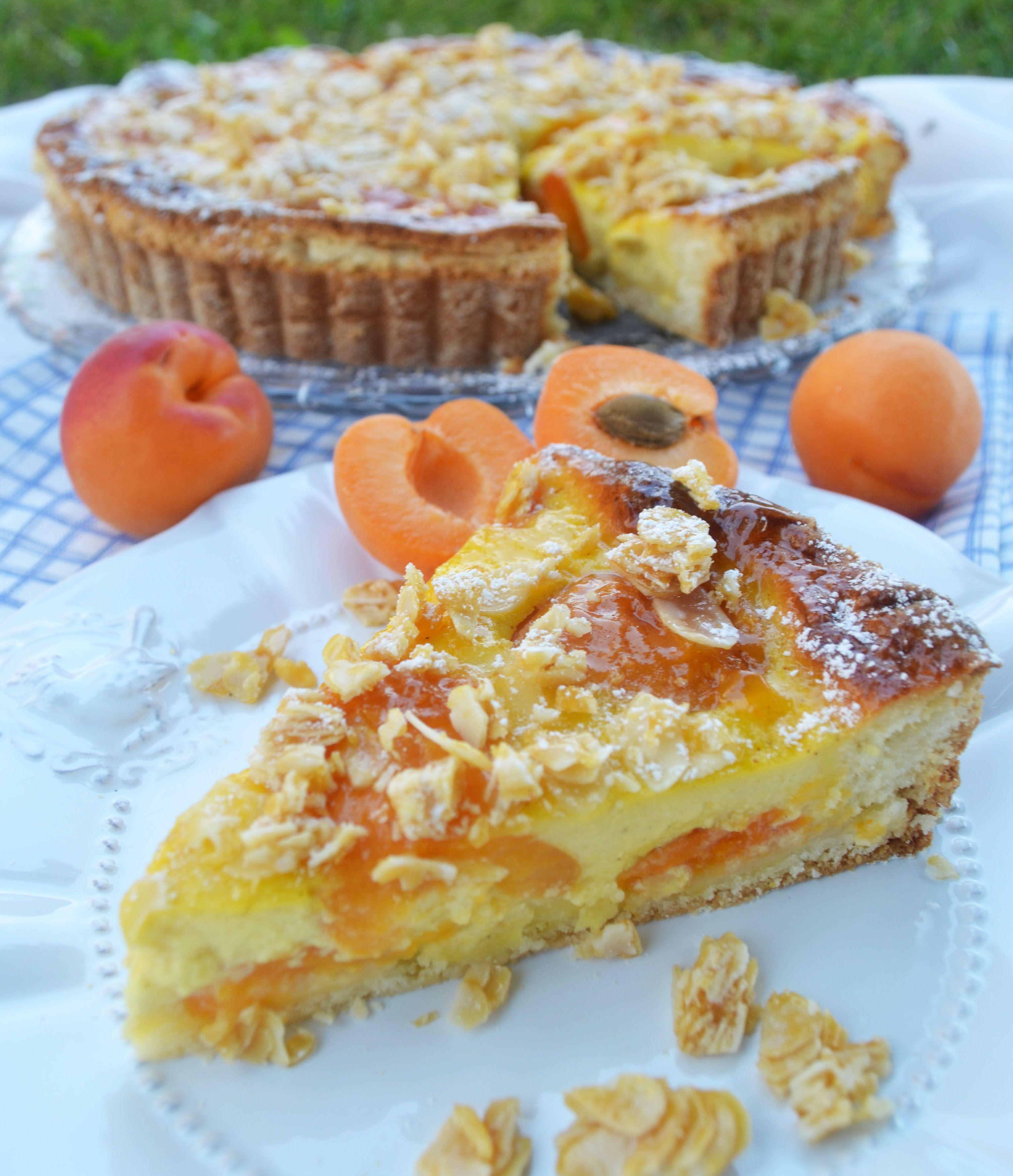 Kuchenliebling! Marillen-Wähe mit Mandelkrokant #foodrecipies
