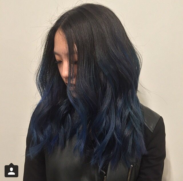 midnight blues. | stylin' | Blue ombre hair, Ombre hair ...