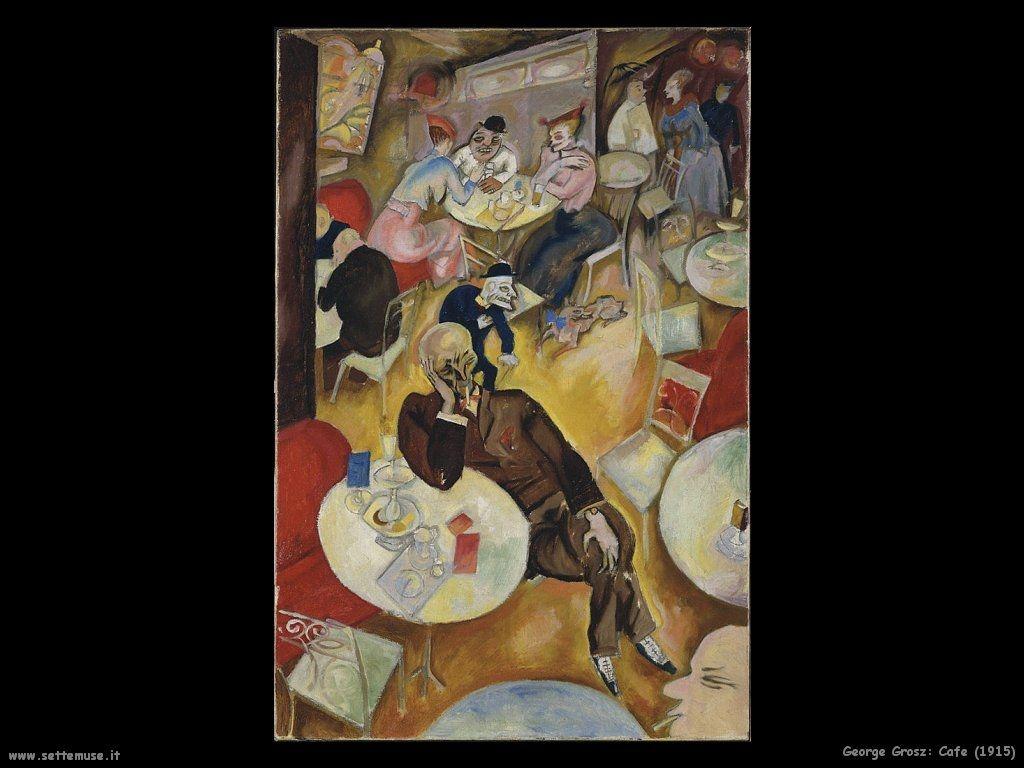Cafe 1915 George Grosz Hirshhorn Museum An Scuplture Garden Smithsonian Institution Washington Kunstproduktion Deutsche Kunstler Neue Kunst
