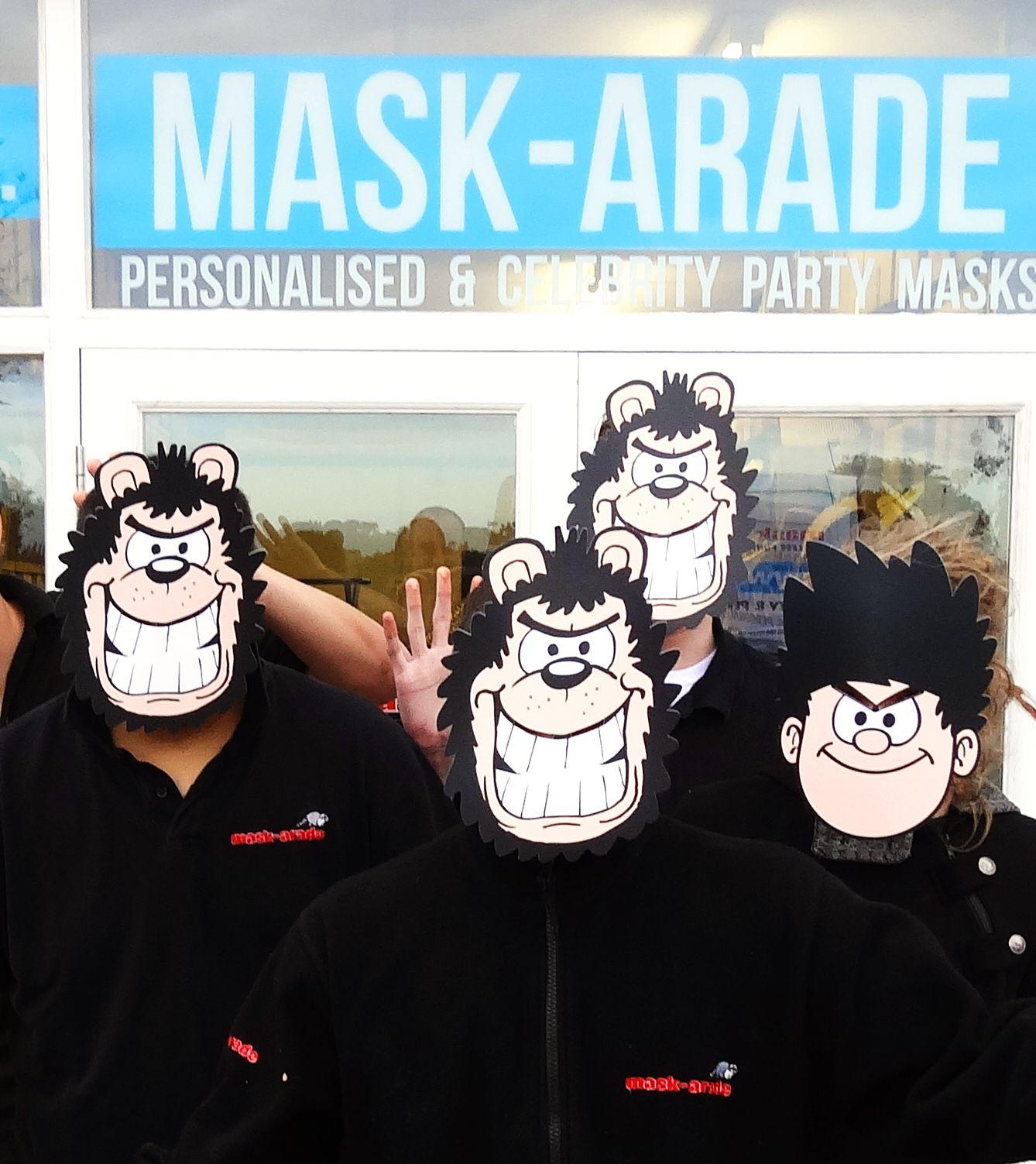 Dennis and Gnasher Beano Masks