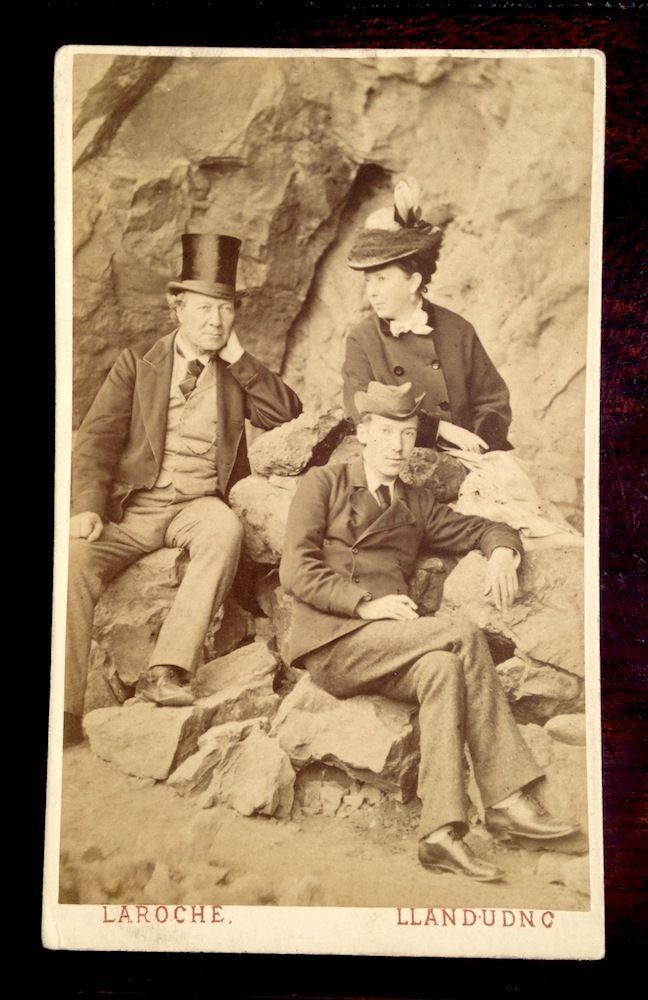 Carte de Visite CDV Photograph of Robert Louis Stevenson with His Parents | eBay