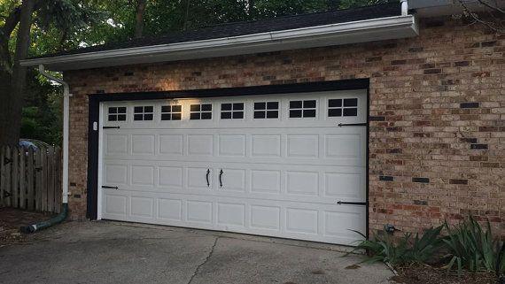 Set Of Vinyl Decals To Look Like Garage Door Windows Get The Look Of Windows With The Privacy Of None See Garage Door Styles Garage Doors Garage Door Design